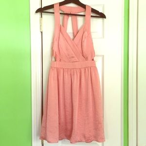 BCBGeneration Flowy Pink Dress with Back Design